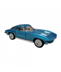 Masinuta Corvette Sting Ray (1963), GoKi, albastru, die-cast, 13 cm
