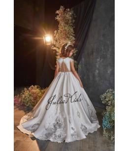 Rochie eleganta pentru fetite, lunga, cu trena, 2-18 ani, JuliaKids, 29153