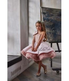 Rochie eleganta pentru fetite, tulle/broderie, 2-18 ani, JuliaKids, 29170