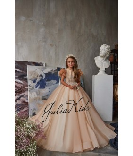 Rochie eleganta pentru fetite, tulle/broderie, 2-18 ani, JuliaKids, 29171