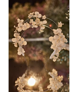 Bentita eleganta cu accesorii florale, 29255