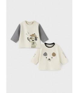 Set 2 bluze nou-nascut, baiat, 12-18 luni, Mayoral, 11-02061-057