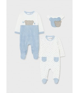 Set 2 salopete nou-nascut, baiat, 2-9 luni, Mayoral, 11-02680-010