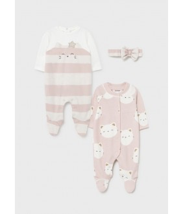 Set 2 salopete nou-nascut, fata, 1-6 luni, Mayoral, 11-02669-003