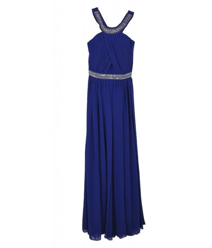 Rochie lunga pentru fete, Irene Blue, voal, 11-14 ani, 146-164 cm