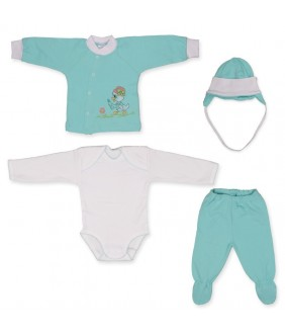 Set nou-nascut, 2-3 luni, 4 piese, 62-64 cm, Pifou