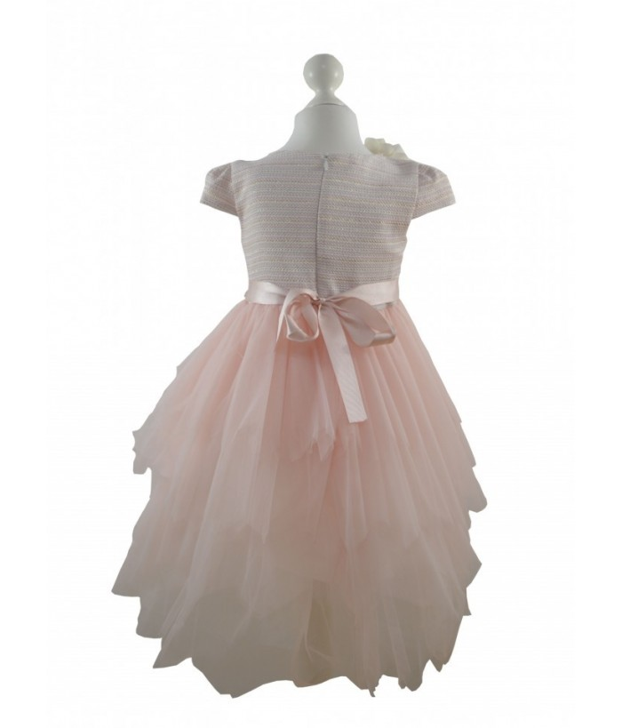 Rochia pentru fetite, Flavia Powder, tulle, 4-8 ani, 104-128 cm