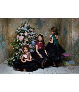 Rochita cu trena pentru fetite, Sasha, paiete si tulle, 2-13 ani, 92-158 cm, 7697