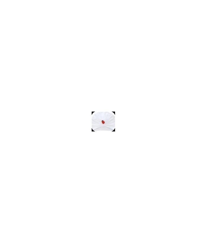 Turban fetite Alma, alb, 3-6 luni, 62-68 cm, Mic Pitic
