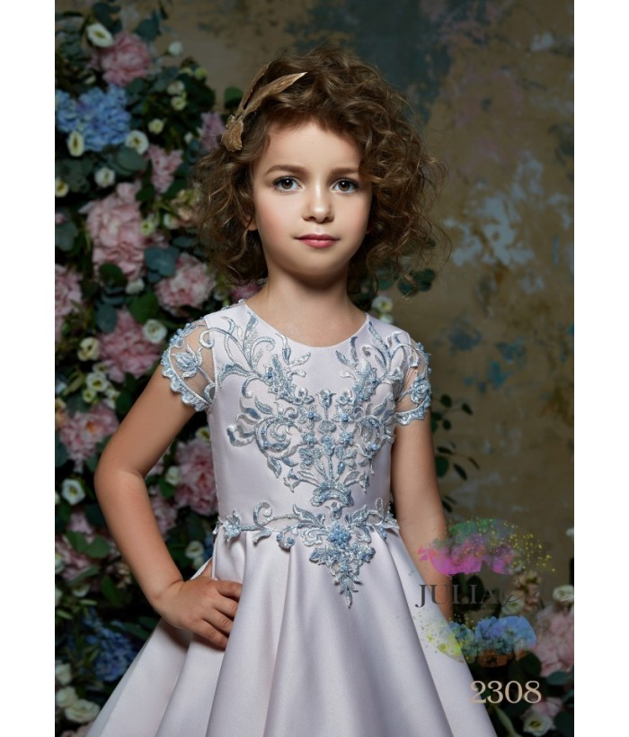 Rochie lunga cu trena pentru fetite, Alexia, 2-13 ani, 92-158 cm