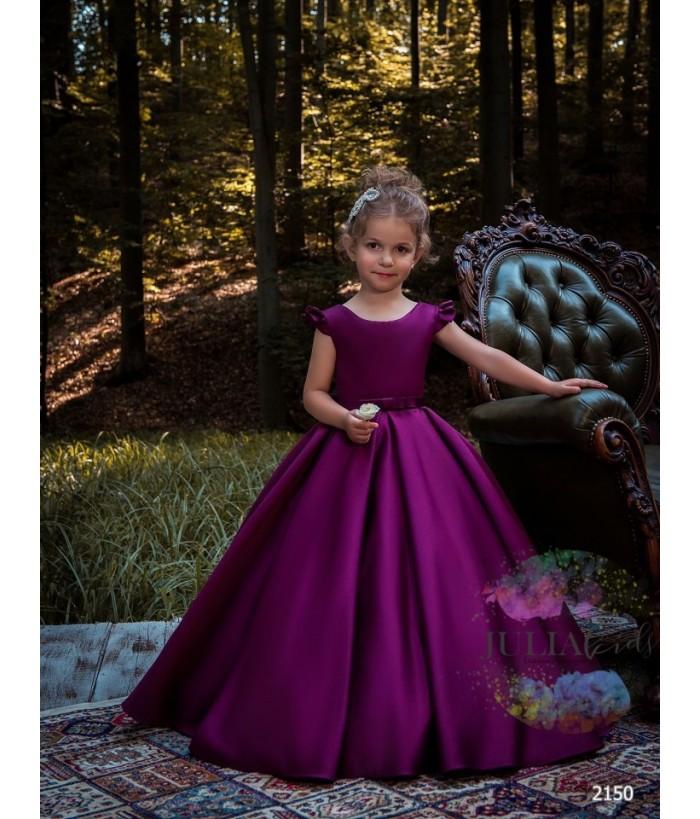 Rochie lunga pentru fetite, Penelope, 4-13 ani, tafta