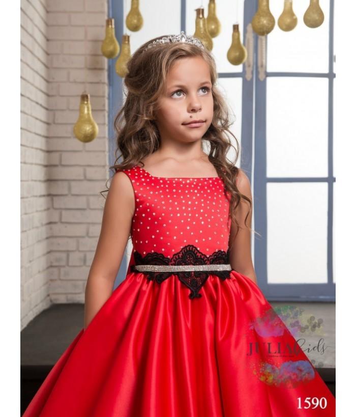 Rochita de ocazie pentru fetite, Catharina, tafta, 2-13 ani, 92-158 cm