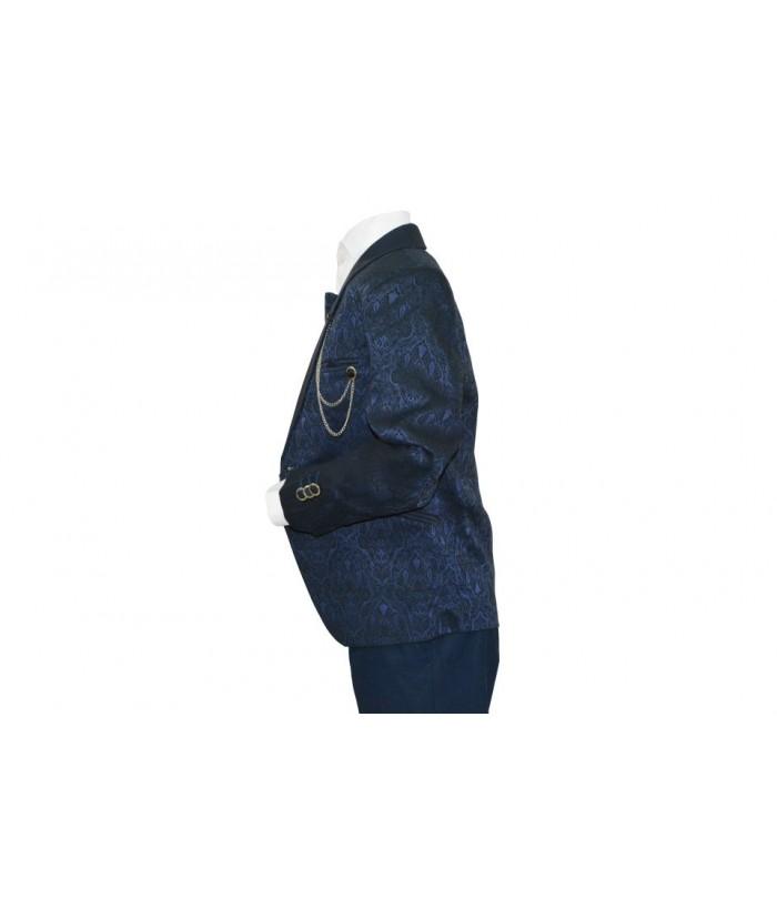 Costum elegant baiat, Antonio, bleumarin, imprimeu, 1-13 ani