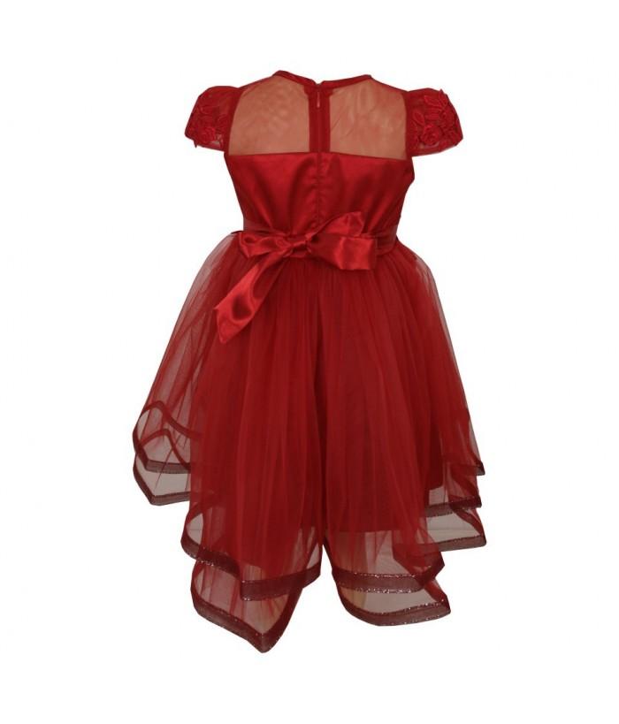 Rochita de printesa, tulle fin, rosie, 7-10 ani, 122 cm-140 cm