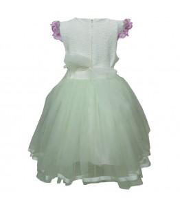 Rochita pentru fetita, ocazie, model Electra, brocard, tulle fin, 2-5 ani, 92-110 cm*