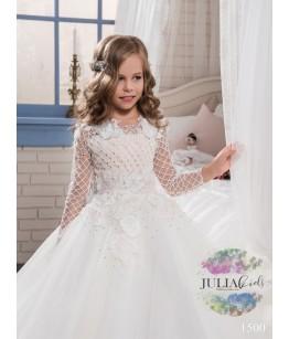 Rochie de ocazie pentru fetite, model Arabella, lunga, tulle fin, 2-13 ani, 92-158 cm