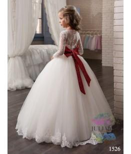 Rochie de ocazie din tulle si dantella pentru fetite, 2-13 ani