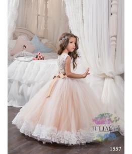 Rochita eleganta pentru domnisoare, lunga cu trena, Juliakids, 2-13 ani