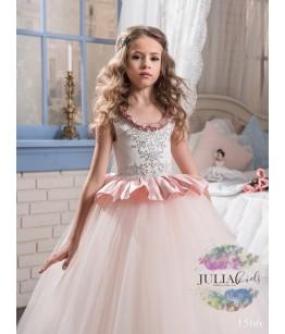Rochita lunga de ocazie pentru domnisoare, roz, JuliaKids, 2-13 ani