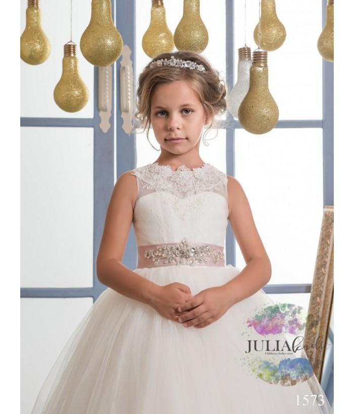 Rochita lunga de ocazie din tulle pentru fetite, JuliaKids, 2-13 ani