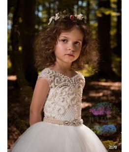 Rochie lunga de ocazie pentru fete, 2-13 ani, 92-158 cm, tulle, JuliaKids, 9713