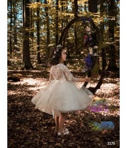 Rochie ocazie pentru fetita, voal si broderie, 2-13 ani, 92-158 cm, tulle, JuliaKids, 9718