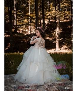 Rochie lunga pentru fete, 2-13 ani, 92-158 cm, tulle, JuliaKids, 9724