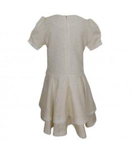 Rochie de zi pentru fete, Anastasia, brocart, crem, 10-11ani, 140-146 cm