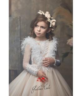 Rochie lunga pentru fete, 2-13 ani, 92-158 cm, tulle, JuliaKids, 26686