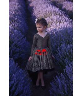Rochii Mama-Fiica Little Lady Jamila, lungi, tafta neagra