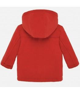 Palton cu gluga, baiat, 1-3 ani, 80-98 cm, portocaliu, Mayoral, 26860