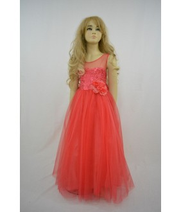 Rochita pentru fetite, Leyla Red, tulle, 8-12 ani, 128-152 cm