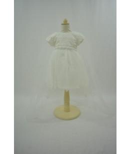 Rochita pentru fetite, Tiana, White,  9 luni-3 ani, 74-98 cm