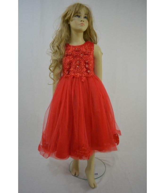 Rochia pentru fetite, Amira Red, 8-11 ani, 128-146 cm