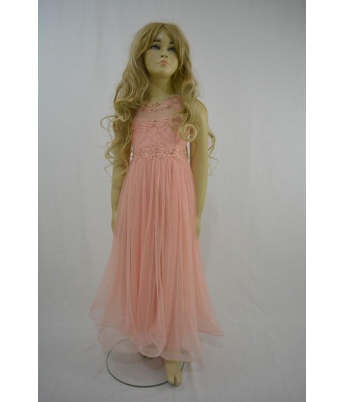 Rochie pentru fetite, Augustina Salmon, 5-6 ani, 110-116 cm
