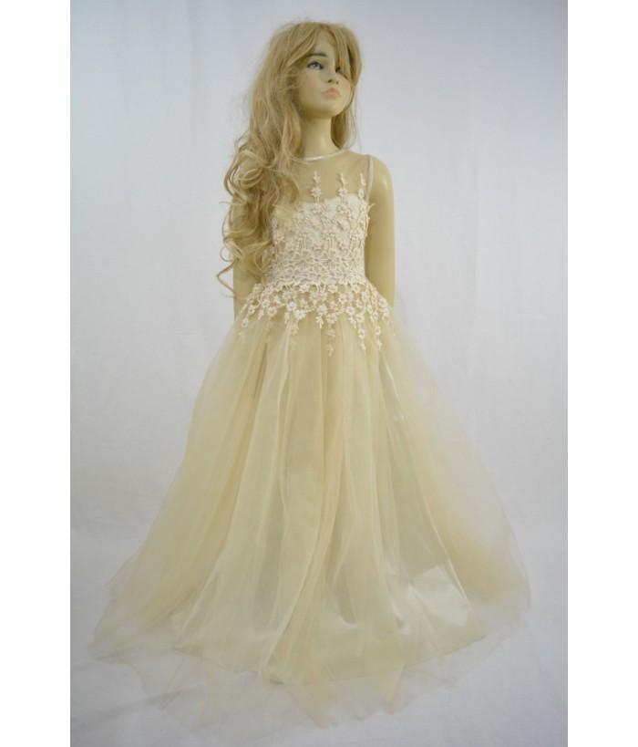 Rochia  pentru fete Julia Ivory, 10 ani, 140 cm, tulle