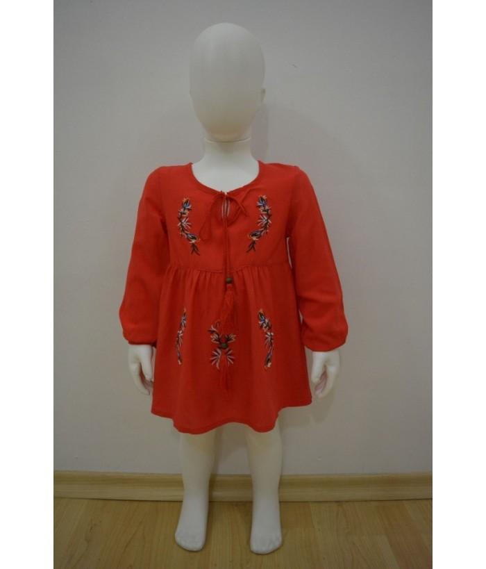 Rochia pentru fetite, Mirabela Rosie, 6 luni-3 ani, 68- 98 cm