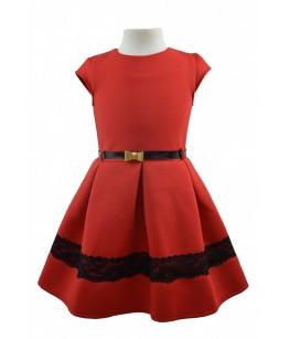 Rochia pentru fetite, Esmeralda Red, 8-9 ani, 128-134 cm