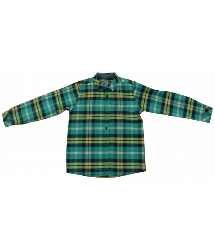 Camasa baiat Green Check 2, 6-9 ani