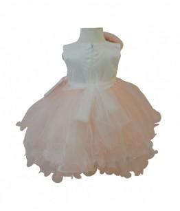 Rochita pentru fetite Alma, roz somon, tulle, 1-4 ani, 80-104 cm, 48