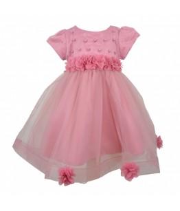 Rochita de tulle roz pentru fetite, Freira, 6 luni-6 ani, 68-116 cm