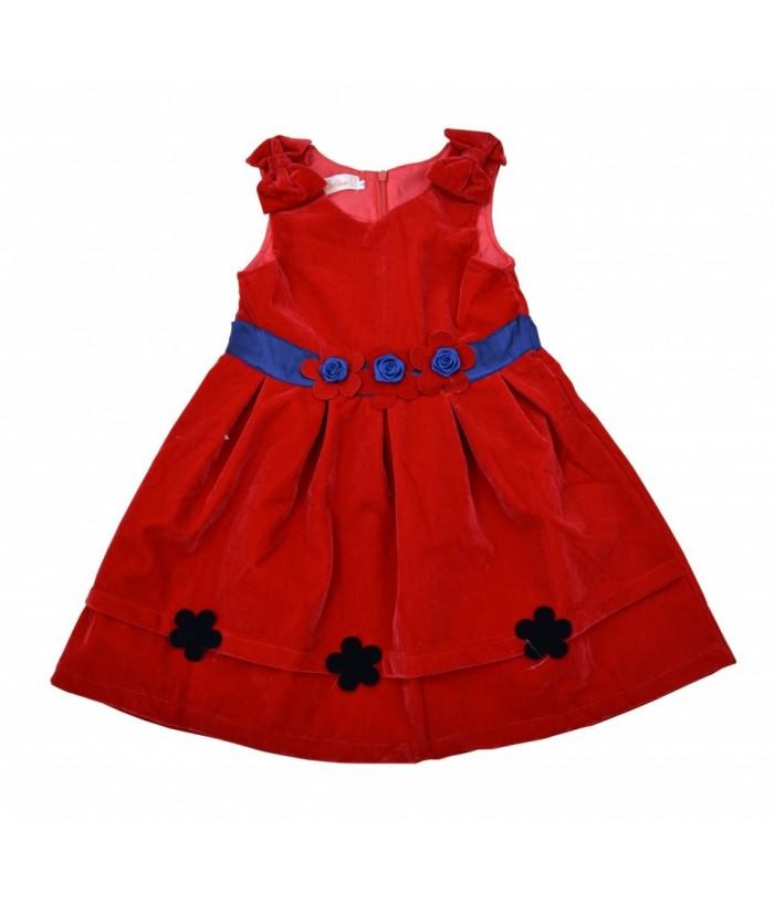Rochie sarafan de culoare rosie, pentru fetite, Ella, 4-8 ani, 104-128 cm