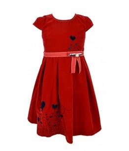 Rochie de fetita Olivia, stofa rosie, 2-6 ani, 92-116 cm