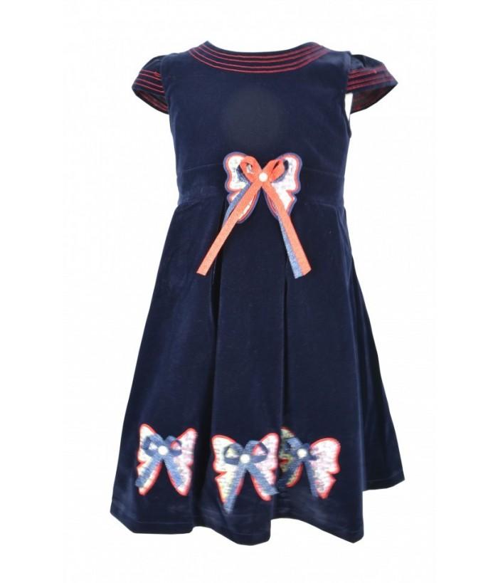 Rochie bleumarin pentru fetite Nadia, 3-6 ani, 98-116 cm