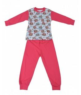Pijamale fete, model 4, 4-6 ani, 104-116 cm, JuliaKids, 5283