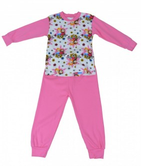 Pijamale fete, model 3, 4-6 ani, 104-116 cm, JuliaKids, 5284