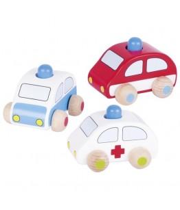 Mașină de poliție, pompieri și ambulanță Goki