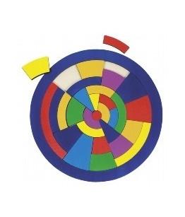 Puzzle cercul colorat, GoKi. lemn, multicolor, diametru 24 cm