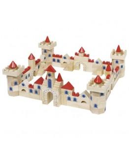 Joc constructie castel GoKi, lemn, 42 x 26 x 6.8 cm