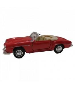 Masinuta Mercedes-Benz 190 SL (1955), decapotata, rosie, die-cast, 12 cm